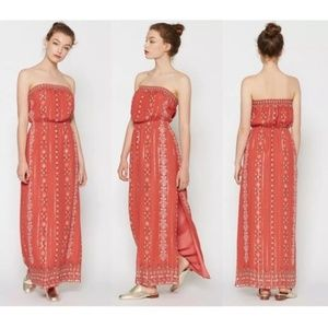 JOIE Mariele Metallic Boho Maxi Dress {I39}
